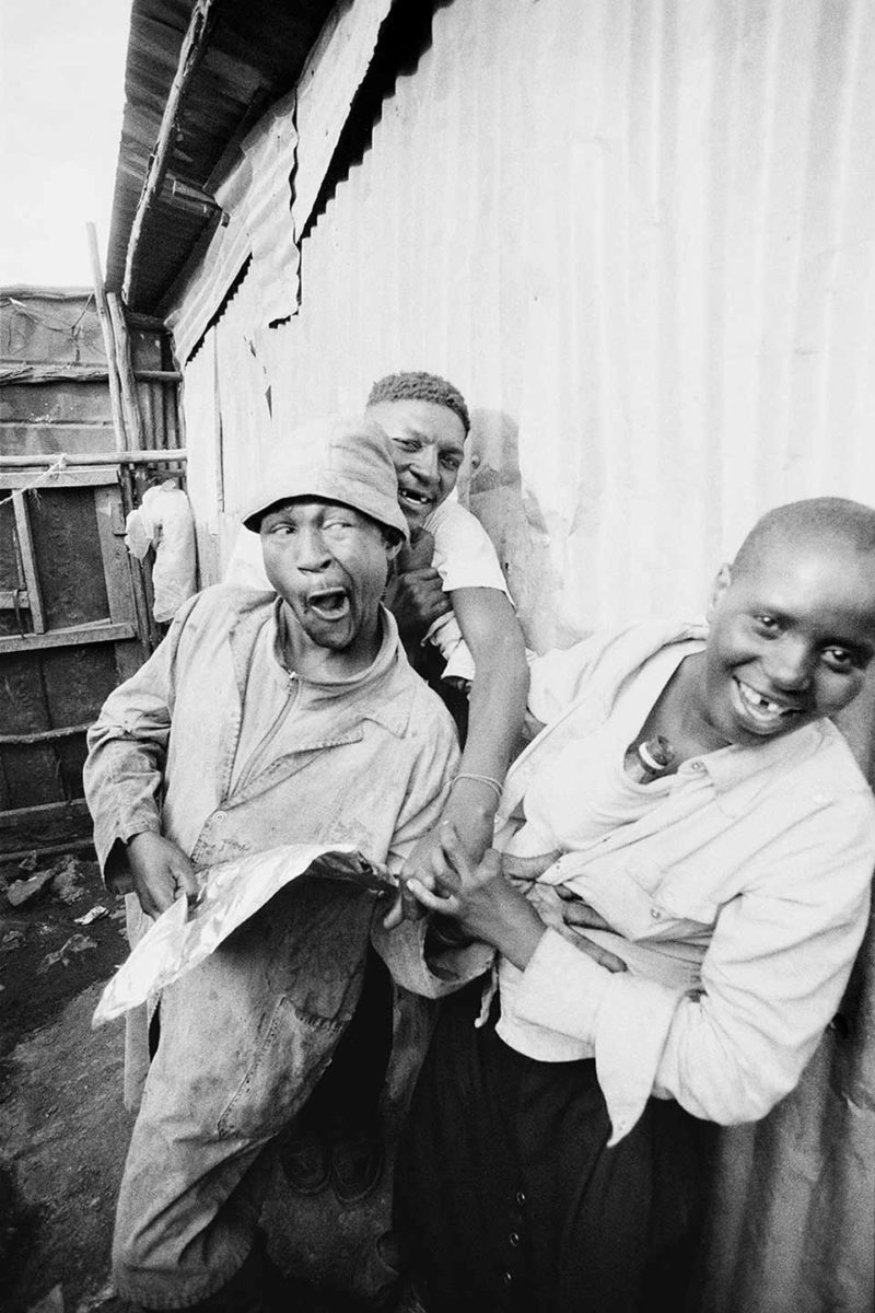 Urban Survivors (Mathare): 3 homeless like the three wise monkeys