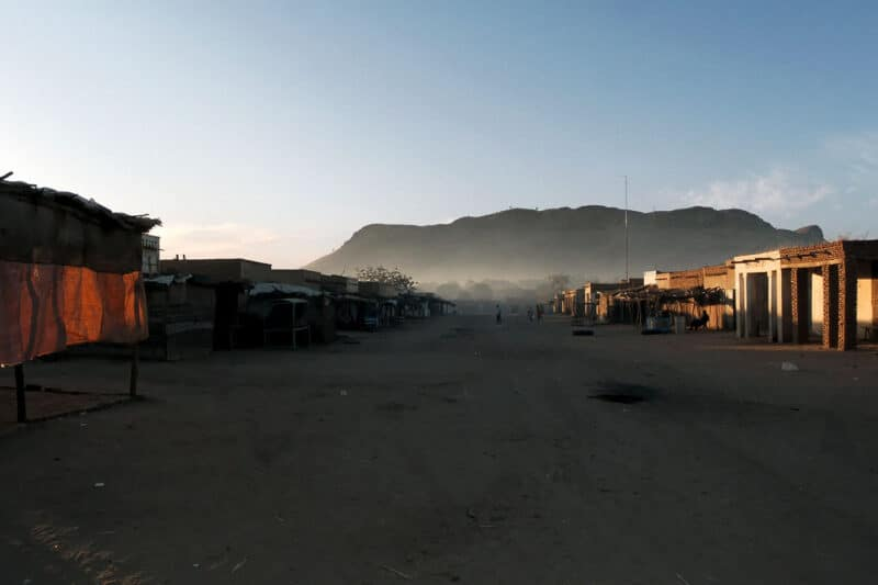 Darfur (دار فور‎‎): Morany IDP camp view from the djebel
